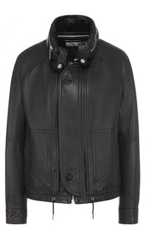 Кожаная куртка свободного кроя Saint Laurent