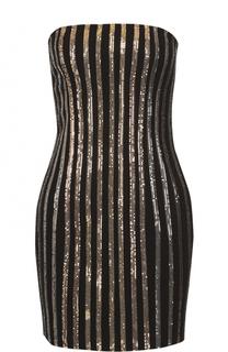 Платье-бюстье с контрастной отделкой Balmain