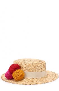 Шляпа Brigitte с помпонами Eugenia Kim