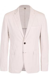Хлопковый однобортный пиджак Burberry