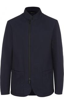 Куртка с косой молнией и воротником-стойкой Armani Collezioni