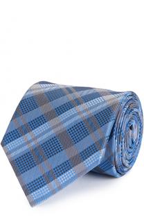 Шелковый галстук в клетку Brioni