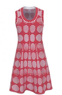 Мини-платье с принтом без рукавов Alaia