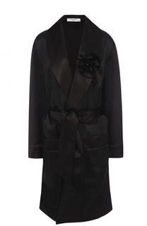 Удлиненный жакет в пижамном стиле с поясом Lanvin