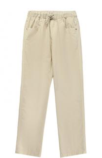 Хлопковые брюки с эластичным поясом Il Gufo