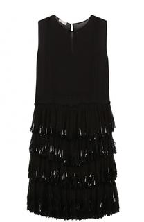 Шелковое платье с декоративной отделкой Dries Van Noten