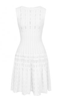 Кружевное приталенное платье без рукавов Alaia
