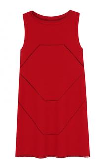 Мини-платье прямого кроя без рукавов Alaia