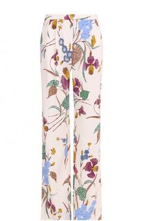 Широкие брюки с цветочным принтом и защипами Diane Von Furstenberg