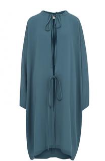 Шелковое платье свободного кроя с круглым вырезом Balenciaga