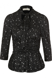 Блуза с принтом в виде звезд и воротником аскот Balenciaga