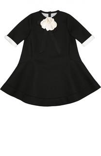 Платье с контрастной отделкой Simonetta