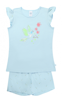Хлопковая пижама с принтом Sanetta