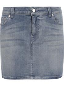 Джинсовая мини-юбка с потертостями Givenchy