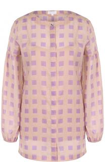 Блуза в клетку с круглым вырезом Escada Sport