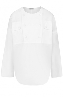 Хлопковая блуза с круглым вырезом Nina Ricci