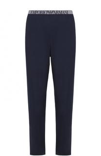 Домашние брюки из вискозы Emporio Armani