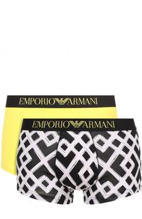 Комплект из двух хлопковых боксеров Emporio Armani