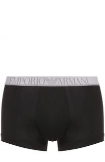 Боксеры из вискозы с логотипом бренда Emporio Armani