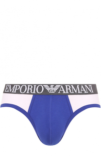 Брифы из эластичного хлопка Emporio Armani