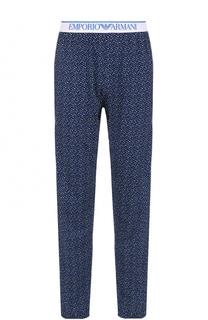 Хлопковые домашние брюки Emporio Armani