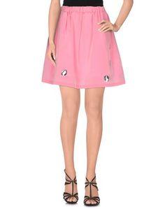 Юбка до колена Pink BOW