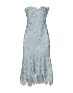Платье до колена Marchesa