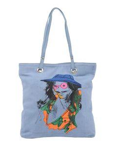 Большая сумка из текстиля Galliano