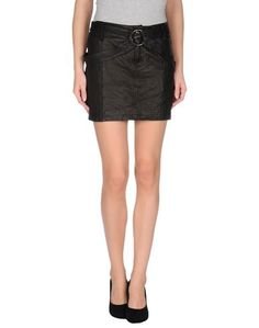 Кожаная юбка Galliano