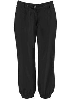 Льняные брюки 3/4 (черный) Bonprix