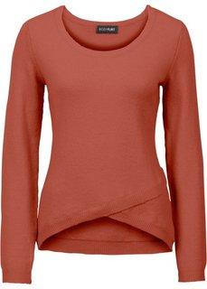 Пуловер с эффектом запаха (ржаво-красный) Bonprix