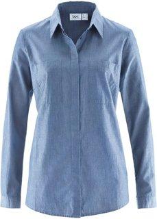 Блузка с длинным рукавом (индиго) Bonprix