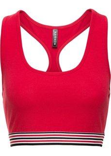 Укороченный спортивный топ (красный/черный/белый) Bonprix