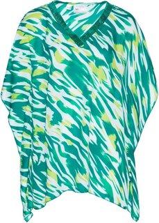 Туника с принтом (темно-изумрудный/зеленый киви с рисунком) Bonprix