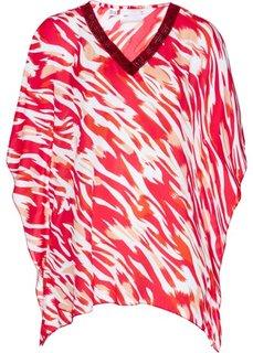 Туника с принтом (ярко-розовый гибискус/омаровый с рисунком) Bonprix