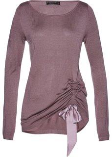 Пуловер с драпировкой (фиолетовый матовый) Bonprix