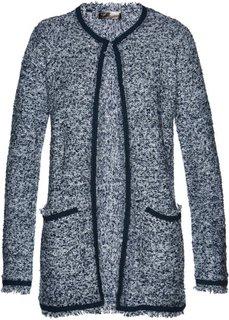 Вязаное пальто (темно-синий/белый) Bonprix