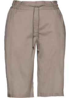 Легкие шорты (серо-коричневый) Bonprix