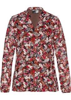 Блузка с принтом (песочно-бежевый/красный в цветочек) Bonprix