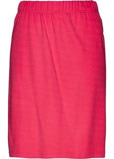 Трикотажная юбка (ярко-розовый гибискус) Bonprix
