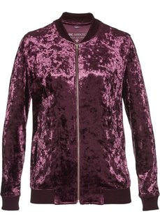 Бархатная трикотажная куртка (цвет бузины с блеском) Bonprix