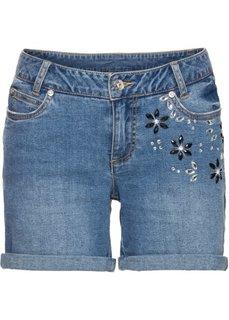 Классика гардероба: шорты с цветами из стекла (нежно-голубой) Bonprix