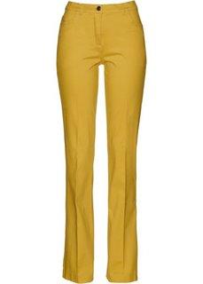 Расклешенные стрейтчевые брюки (лимонный карри) Bonprix