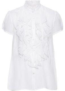 Блузка с оборками (кремовый) Bonprix