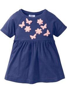 Платье с аппликацией (ночная синь) Bonprix