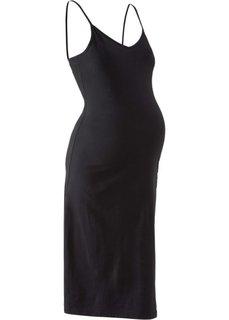 Платье-миди для беременных (черный) Bonprix