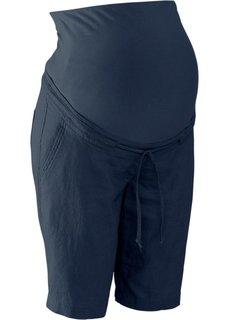 Для будущих мам: льняные шорты (темно-синий) Bonprix