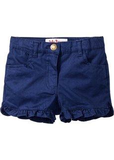 Джинсовые шорты с рюшами (темно-синий) Bonprix