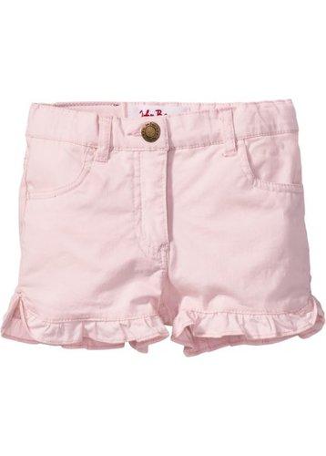 Джинсовые шорты с рюшами (нежно-розовый)