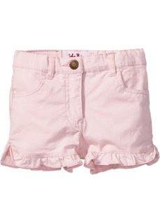 Джинсовые шорты с рюшами (нежно-розовый) Bonprix
